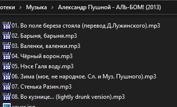 MP3-Info Extension - вид в проводнике